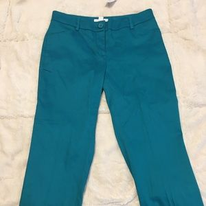 Teal, straight leg New York and company size 0 NWT